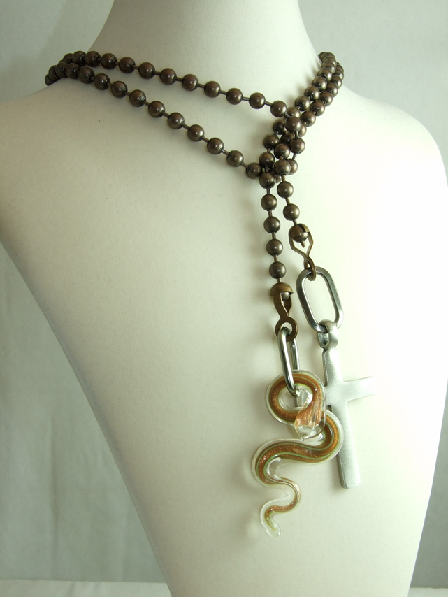 Slither cross and snake pendants cross and snake pendants aloadofball Images
