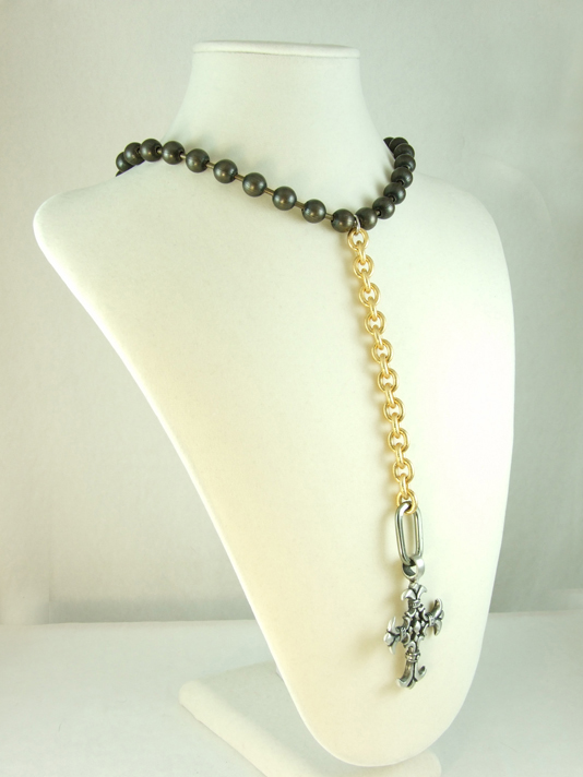 Ballchain and Gold with Cross