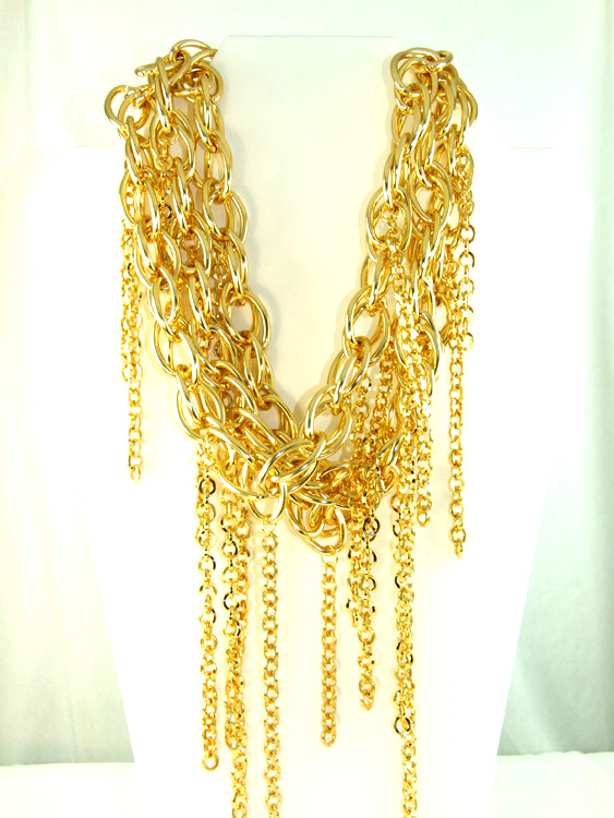 Gold with Tassels